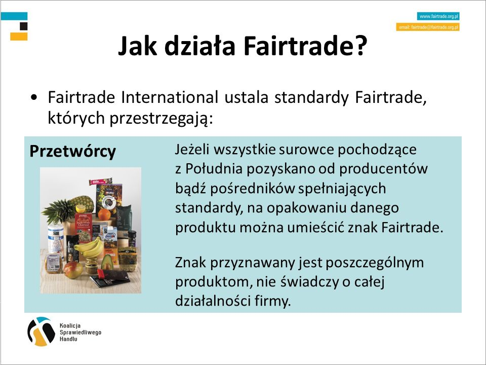 Jak działa Fairtrade Przetwórcy