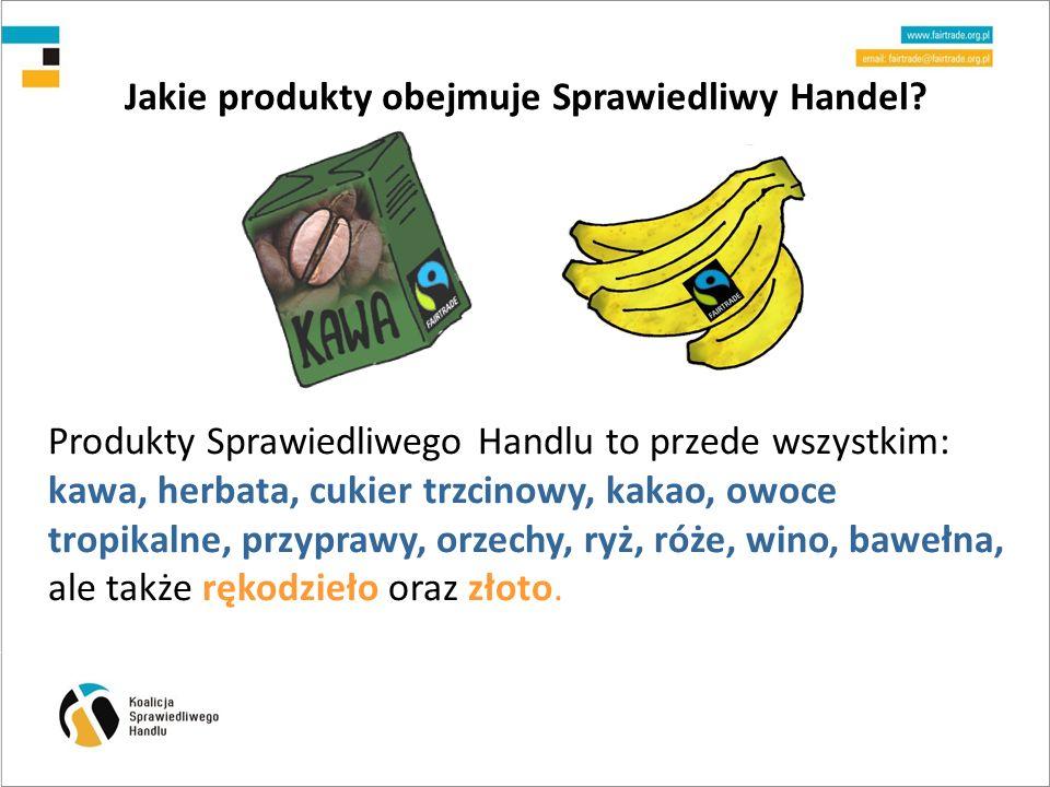 Jakie produkty obejmuje Sprawiedliwy Handel