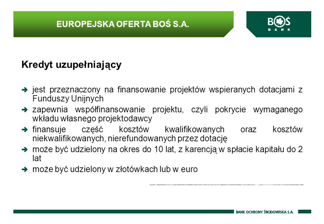 EUROPEJSKA OFERTA BOŚ S.A.