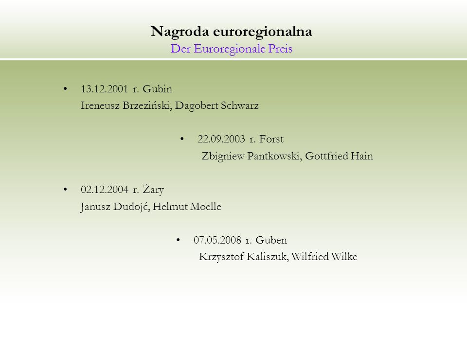 Nagroda euroregionalna Der Euroregionale Preis