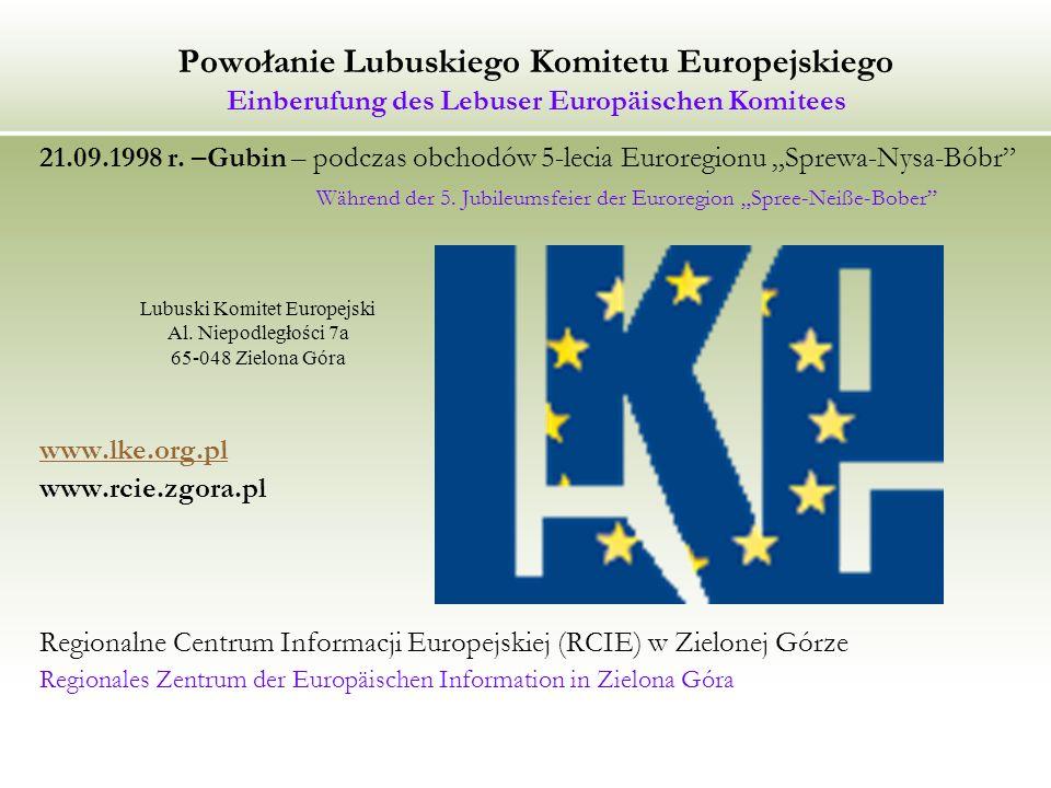 Lubuski Komitet Europejski Al. Niepodległości 7a 65-048 Zielona Góra