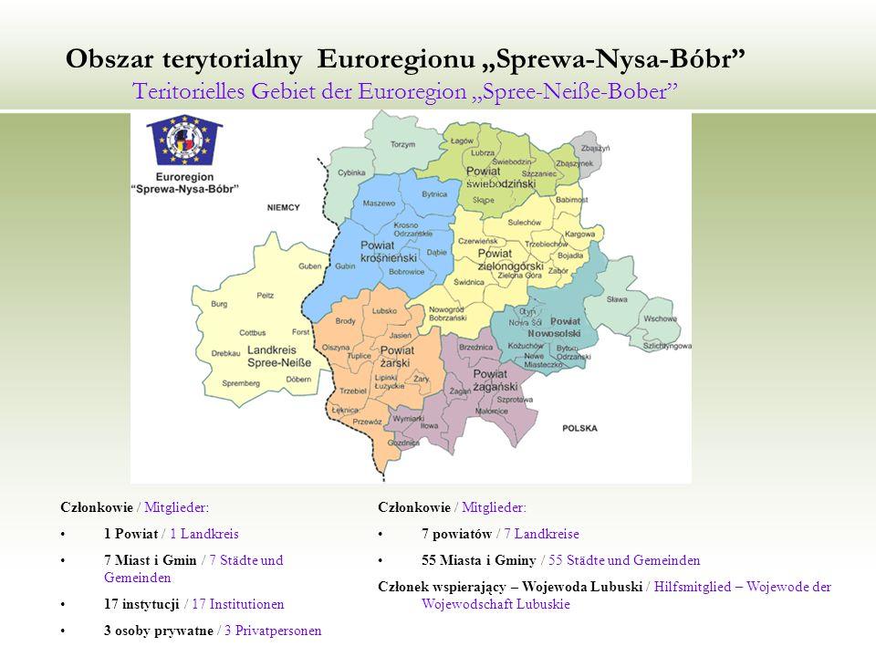 "Obszar terytorialny Euroregionu ""Sprewa-Nysa-Bóbr Teritorielles Gebiet der Euroregion ""Spree-Neiße-Bober"