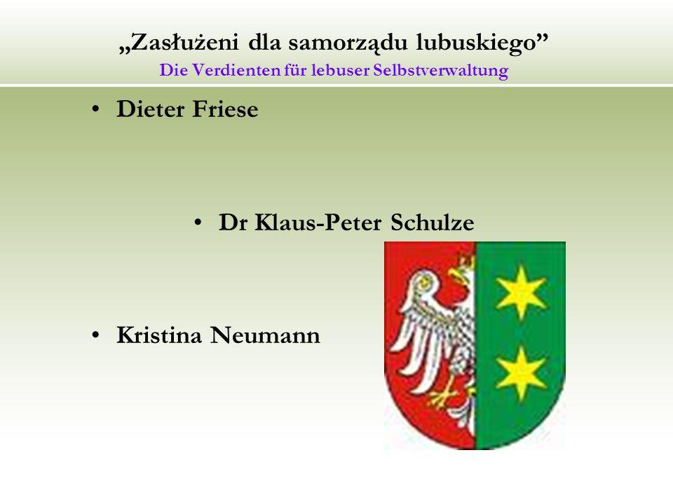 Dr Klaus-Peter Schulze