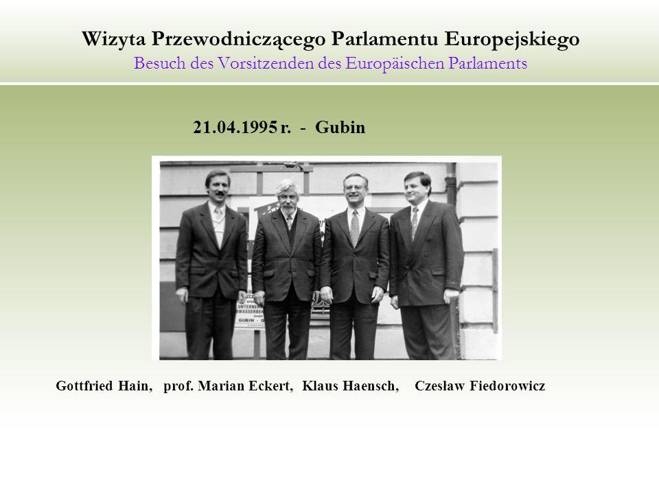 Wizyta Przewodniczącego Parlamentu Europejskiego Besuch des Vorsitzenden des Europäischen Parlaments