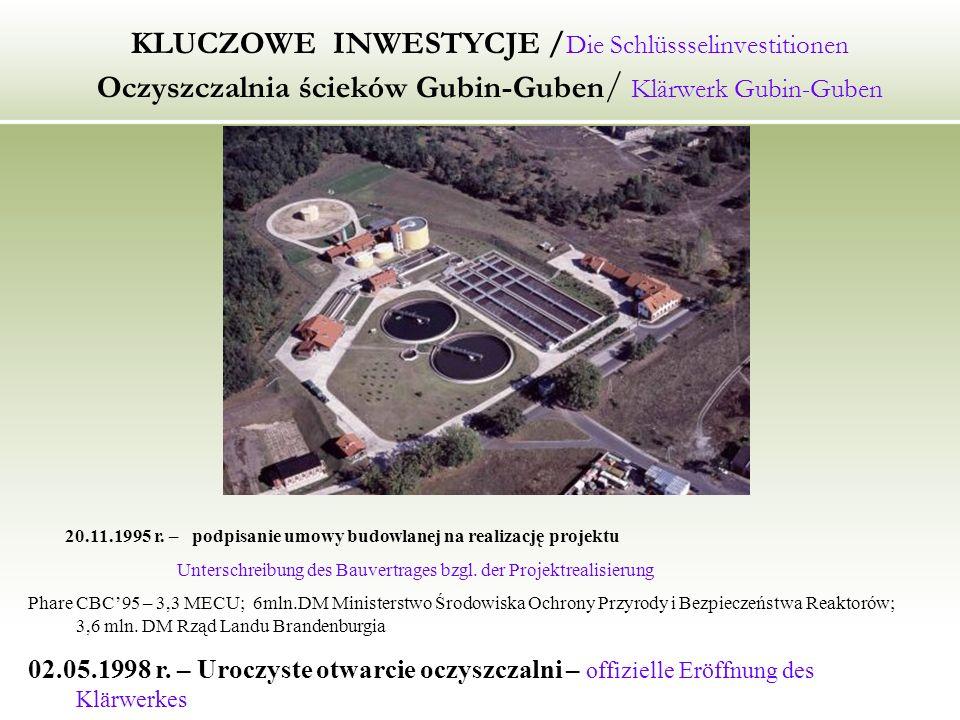 KLUCZOWE INWESTYCJE /Die Schlüssselinvestitionen Oczyszczalnia ścieków Gubin-Guben/ Klärwerk Gubin-Guben