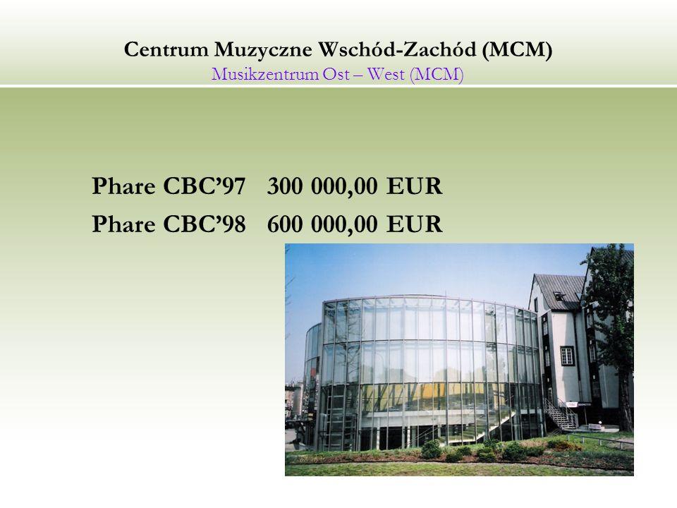Centrum Muzyczne Wschód-Zachód (MCM) Musikzentrum Ost – West (MCM)