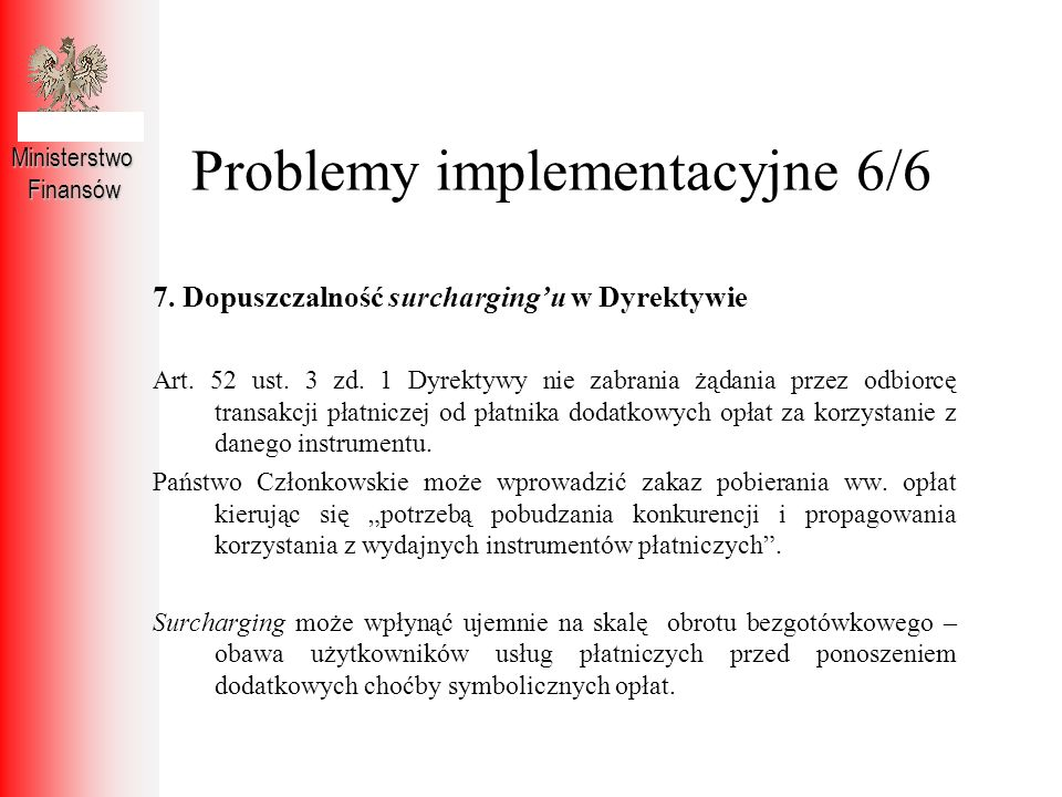 Problemy implementacyjne 6/6