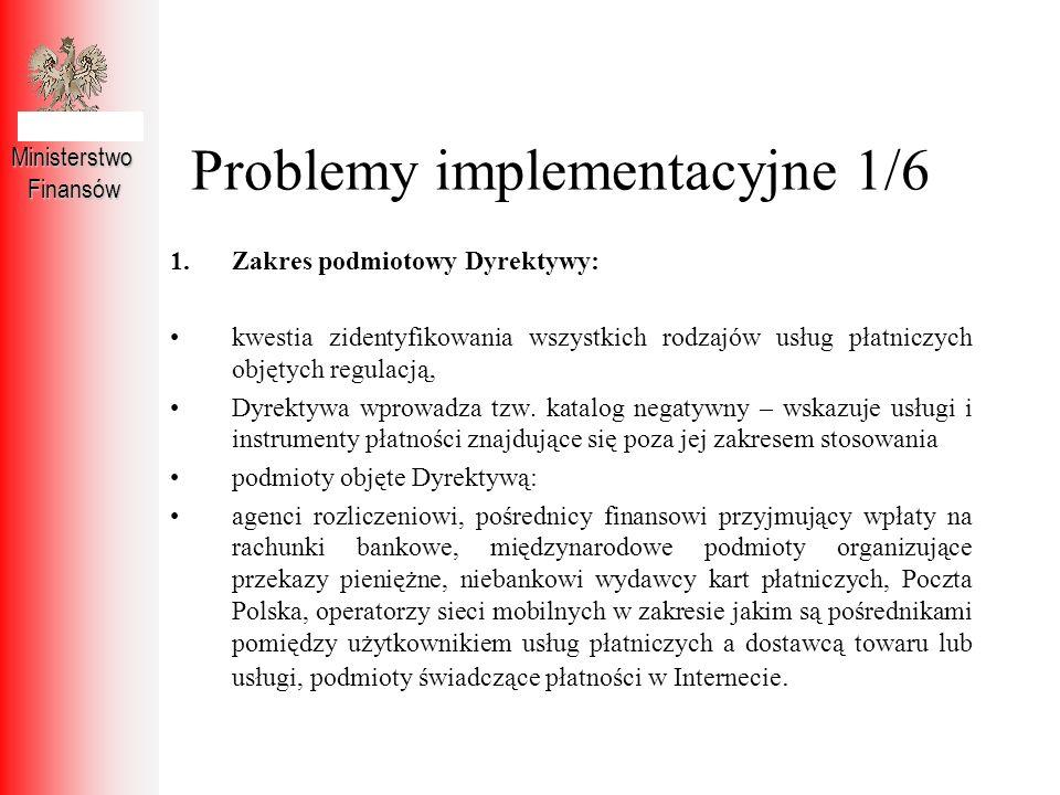 Problemy implementacyjne 1/6