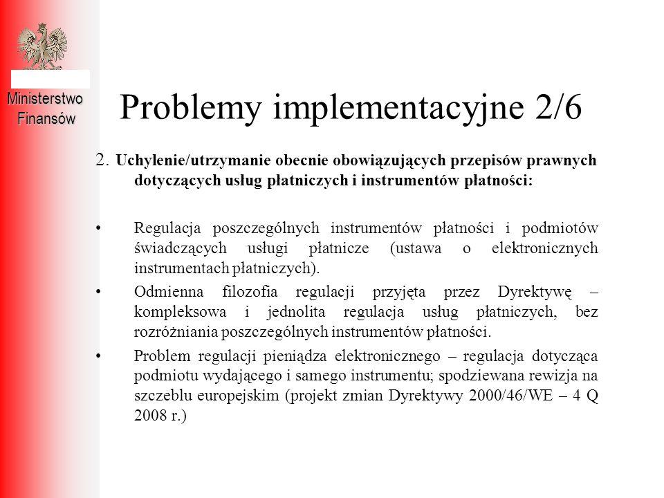 Problemy implementacyjne 2/6