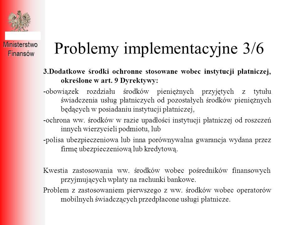 Problemy implementacyjne 3/6