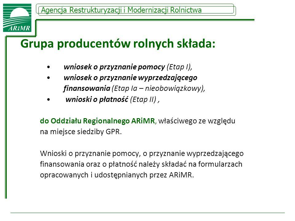 Grupa producentów rolnych składa:
