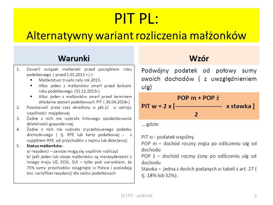 PIT PL: Alternatywny wariant rozliczenia małżonków