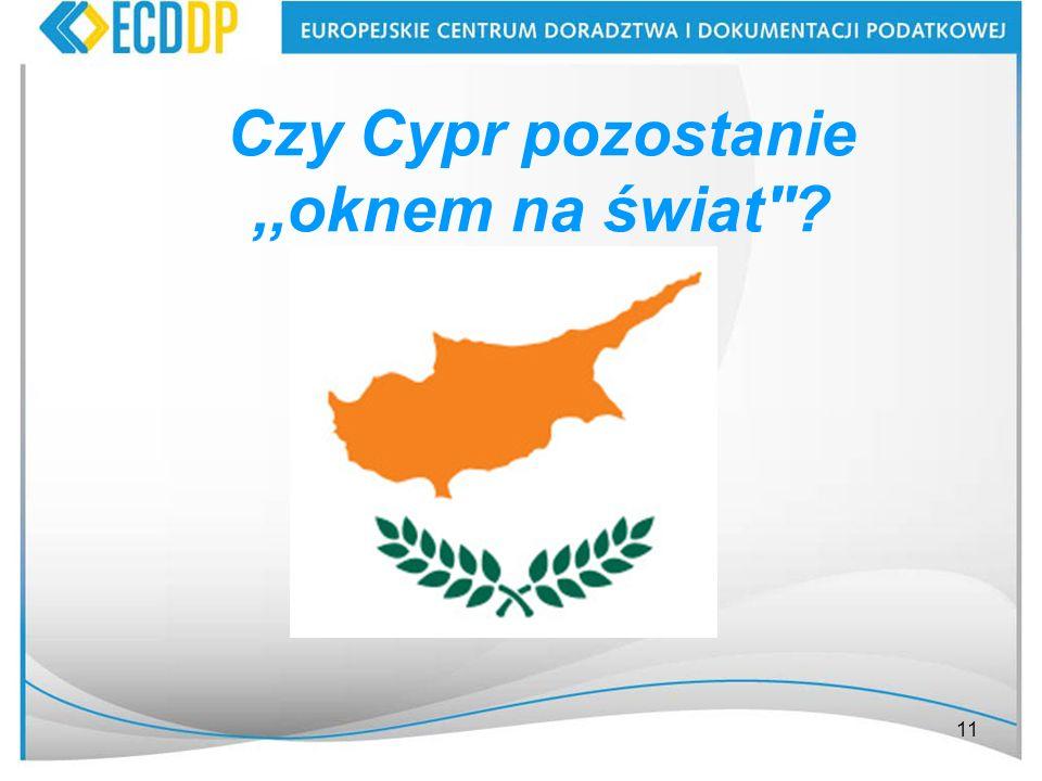 Czy Cypr pozostanie ,,oknem na świat