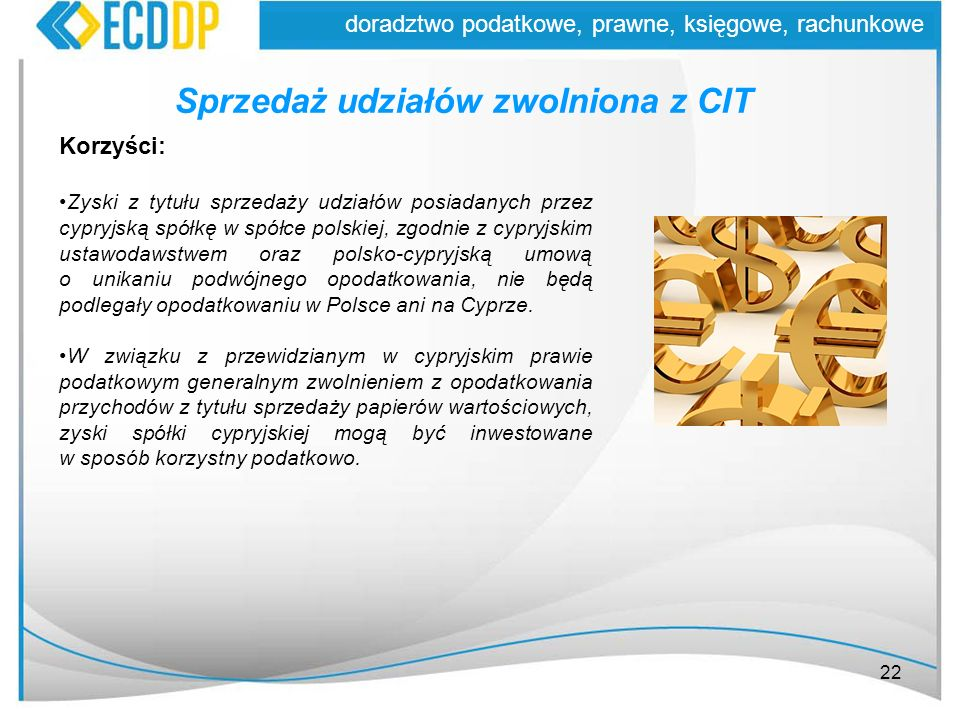 Sprzedaż udziałów zwolniona z CIT