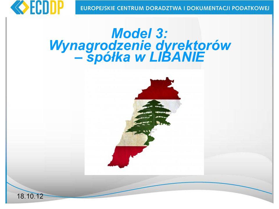 Wynagrodzenie dyrektorów – spółka w LIBANIE
