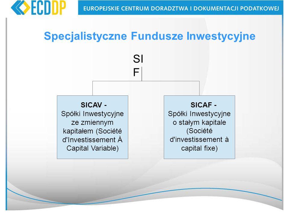 Specjalistyczne Fundusze Inwestycyjne