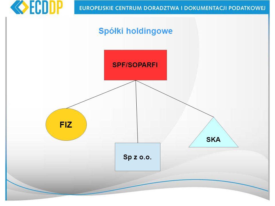 Spółki holdingowe SPF/SOPARFI FIZ SKA Sp z o.o.