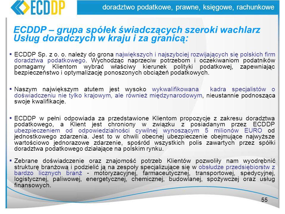 ECDDP – grupa spółek świadczących szeroki wachlarz