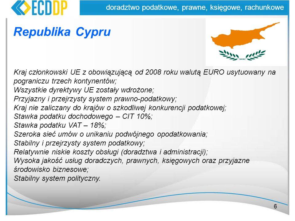 Republika Cypru doradztwo podatkowe, prawne, księgowe, rachunkowe