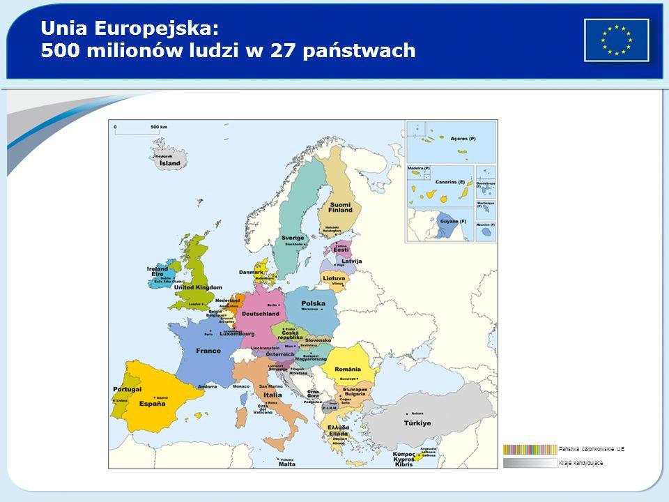 Unia Europejska: 500 milionów ludzi w 27 państwach