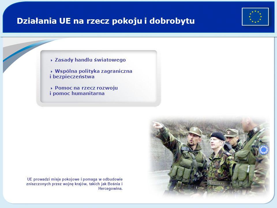 Działania UE na rzecz pokoju i dobrobytu