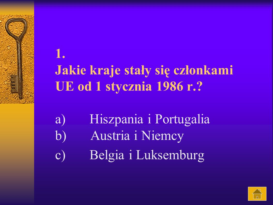 1. Jakie kraje stały się członkami UE od 1 stycznia 1986 r