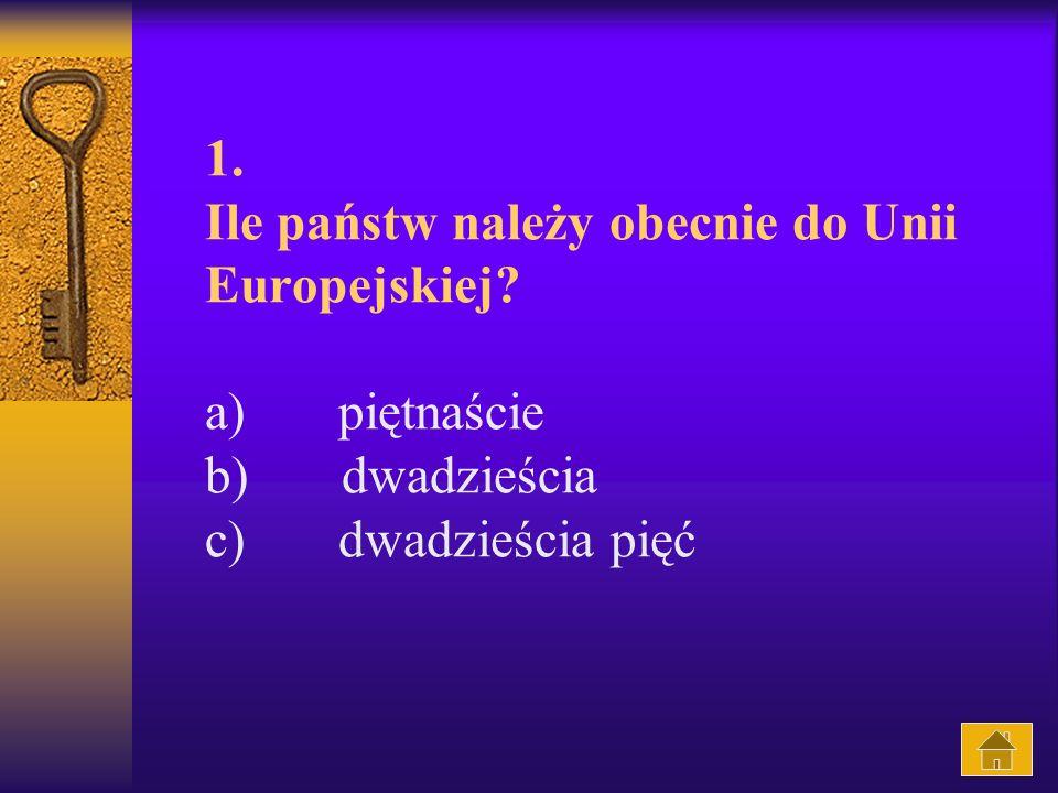 1. Ile państw należy obecnie do Unii Europejskiej