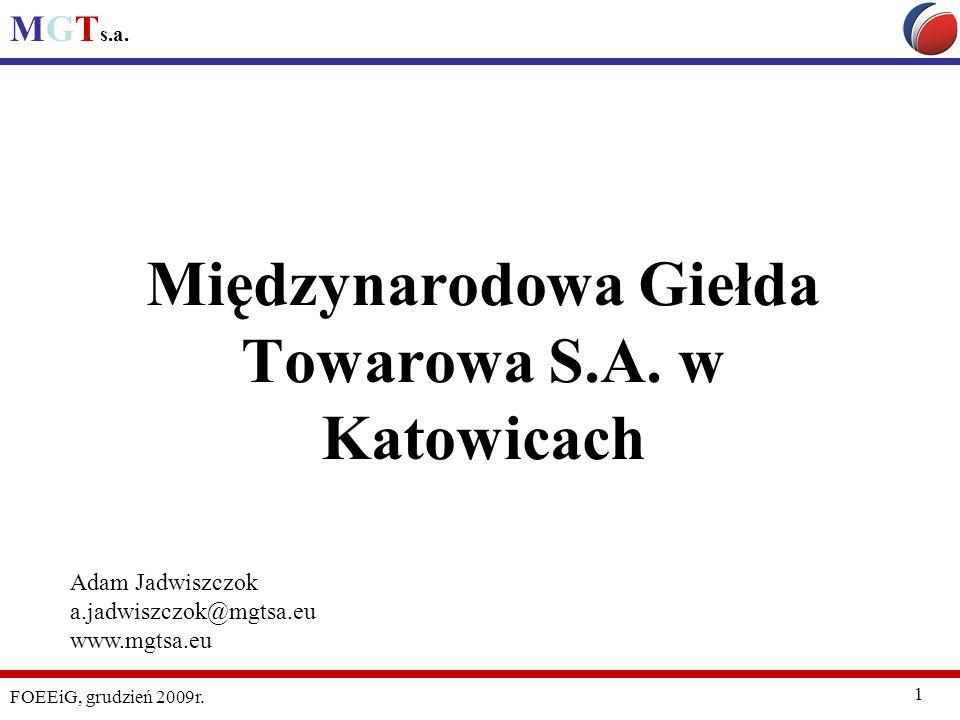 Międzynarodowa Giełda Towarowa S.A. w Katowicach