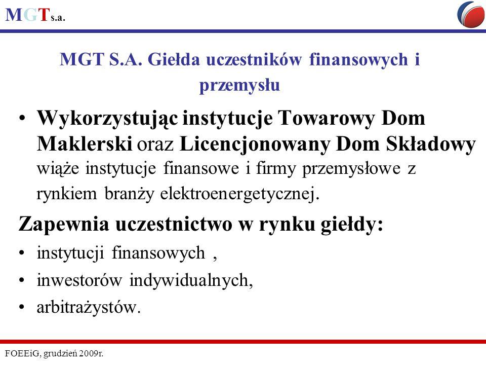 MGT S.A. Giełda uczestników finansowych i przemysłu