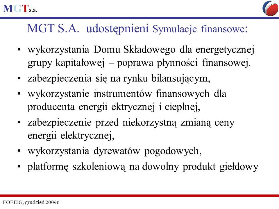 MGT S.A. udostępnieni Symulacje finansowe: