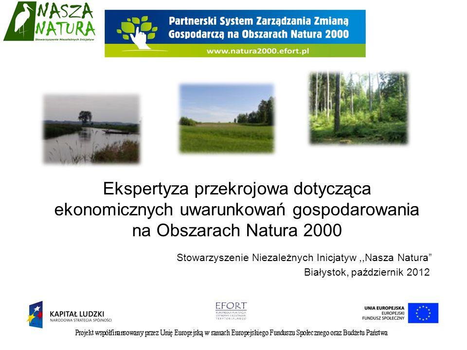 Ekspertyza przekrojowa dotycząca ekonomicznych uwarunkowań gospodarowania na Obszarach Natura 2000