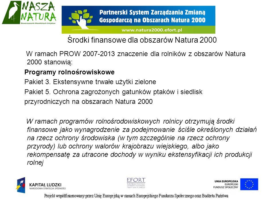 Środki finansowe dla obszarów Natura 2000