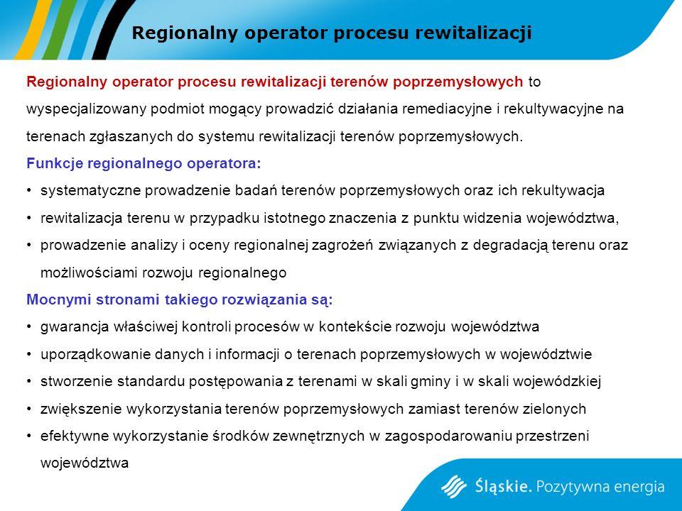 Regionalny operator procesu rewitalizacji