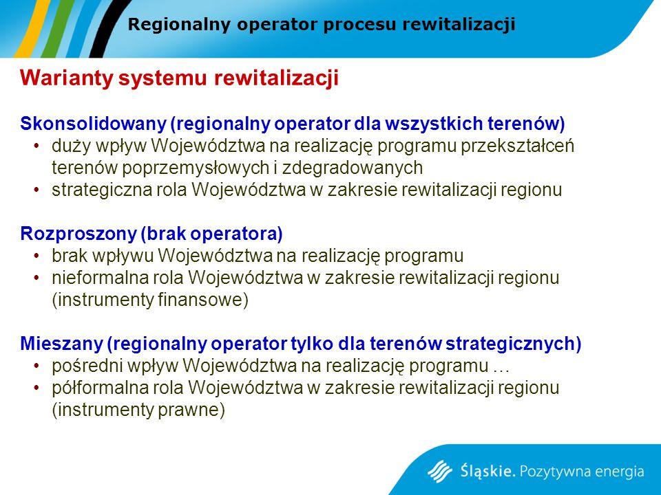 Warianty systemu rewitalizacji