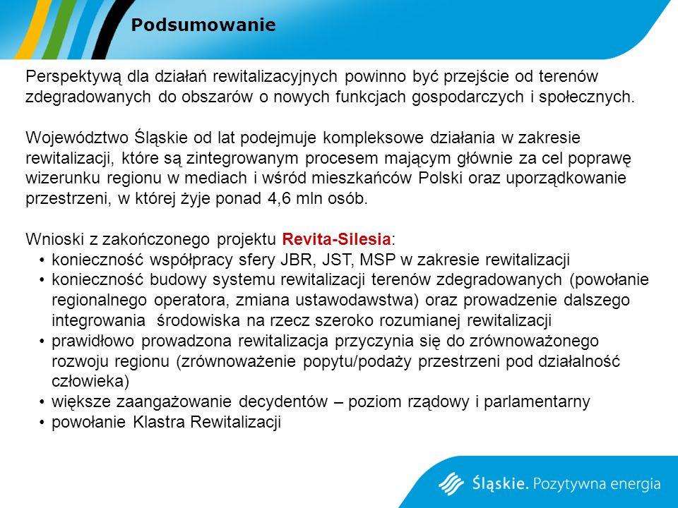 Wnioski z zakończonego projektu Revita-Silesia: