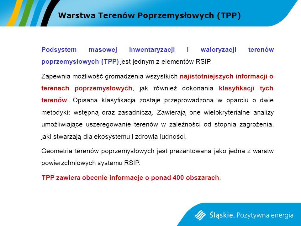 Warstwa Terenów Poprzemysłowych (TPP)