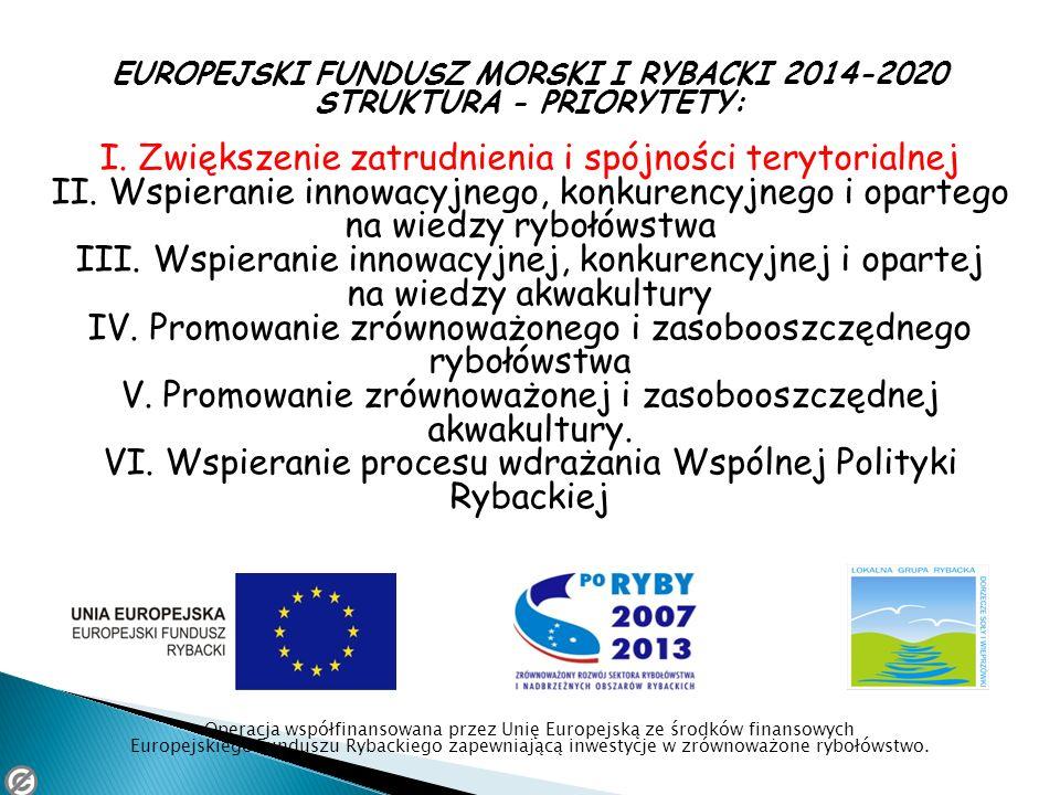 EUROPEJSKI FUNDUSZ MORSKI I RYBACKI 2014-2020 STRUKTURA - PRIORYTETY: