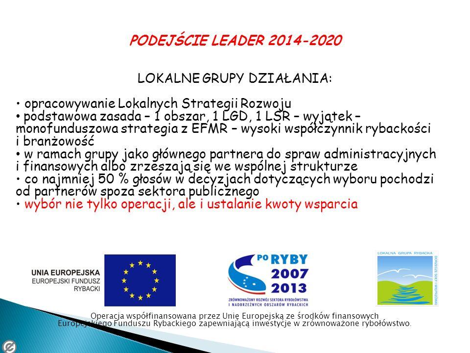LOKALNE GRUPY DZIAŁANIA: • opracowywanie Lokalnych Strategii Rozwoju