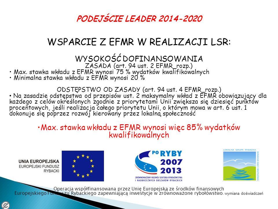WSPARCIE Z EFMR W REALIZACJI LSR: