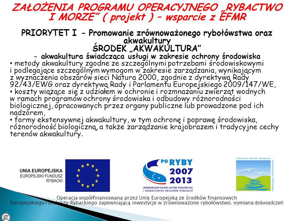PRIORYTET I - Promowanie zrównoważonego rybołówstwa oraz akwakultury