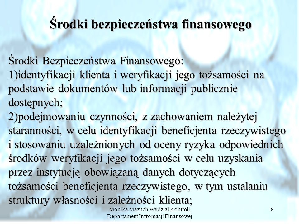 Środki bezpieczeństwa finansowego
