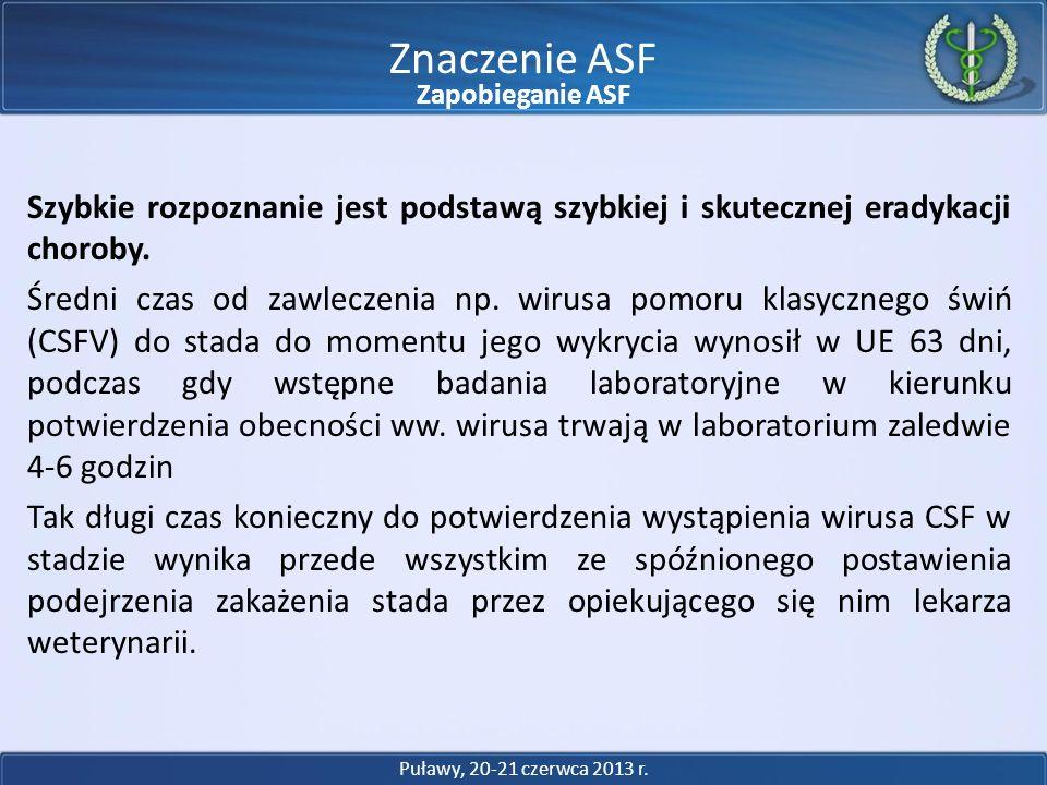 Znaczenie ASFZapobieganie ASF.