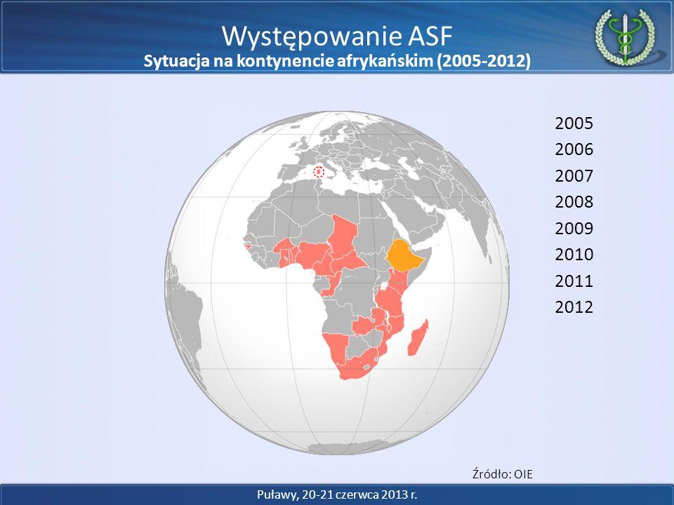 Sytuacja na kontynencie afrykańskim (2005-2012)