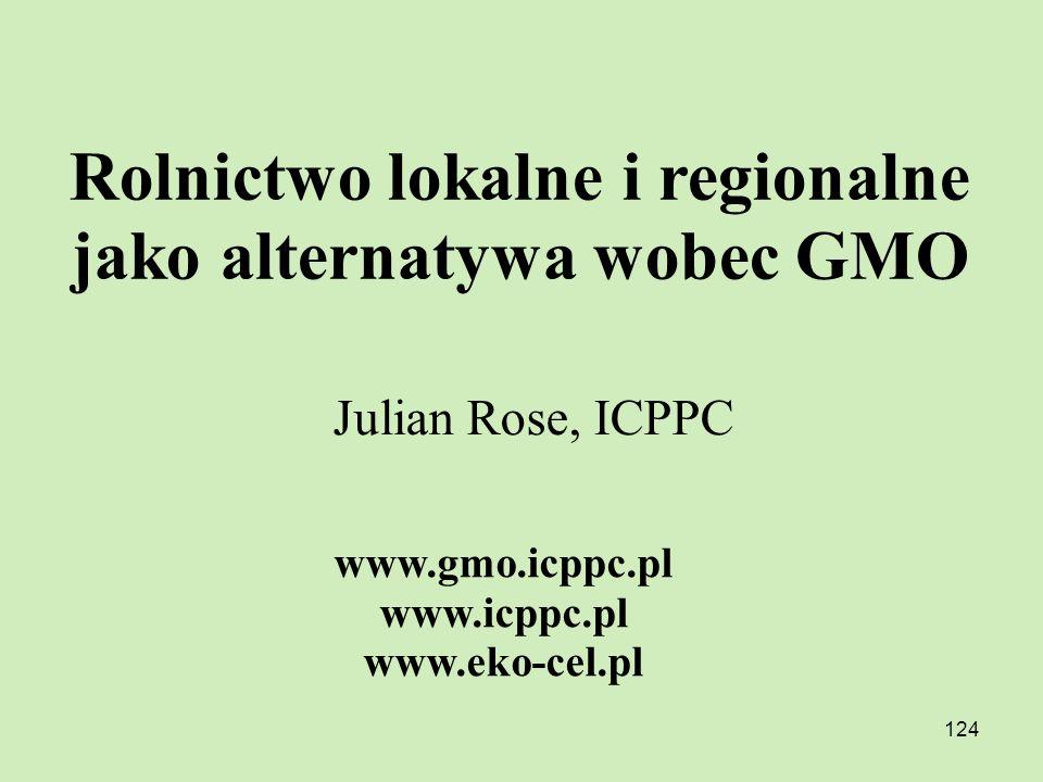 Rolnictwo lokalne i regionalne jako alternatywa wobec GMO