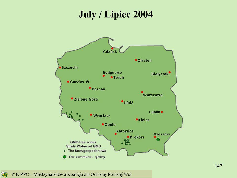 July / Lipiec 2004 © ICPPC – Międzynarodowa Koalicja dla Ochrony Polskiej Wsi