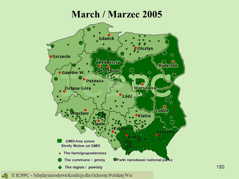March / Marzec 2005 © ICPPC – Międzynarodowa Koalicja dla Ochrony Polskiej Wsi