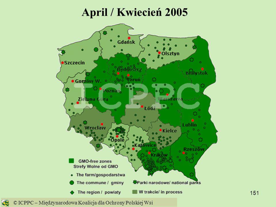 April / Kwiecień 2005 © ICPPC – Międzynarodowa Koalicja dla Ochrony Polskiej Wsi