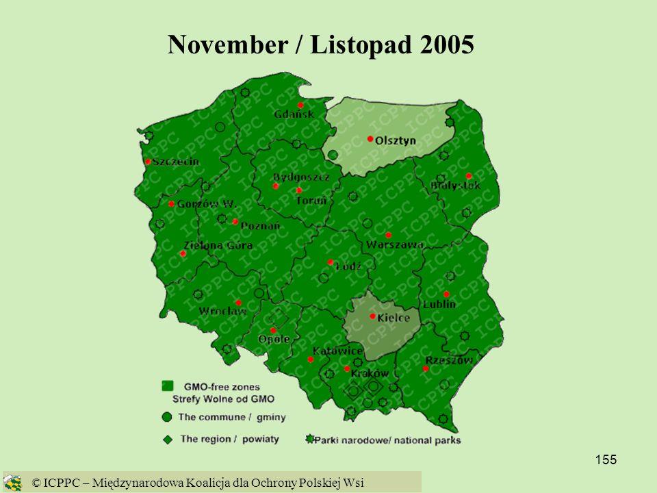 November / Listopad 2005 © ICPPC – Międzynarodowa Koalicja dla Ochrony Polskiej Wsi
