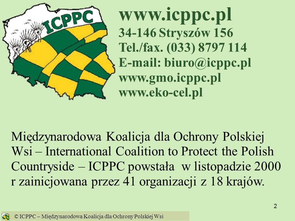 www.icppc.pl 34-146 Stryszów 156 Tel./fax. (033) 8797 114