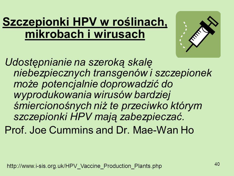 Szczepionki HPV w roślinach, mikrobach i wirusach